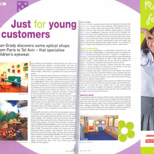 """Just for young customers"" 20/20 europe international eye fashion"